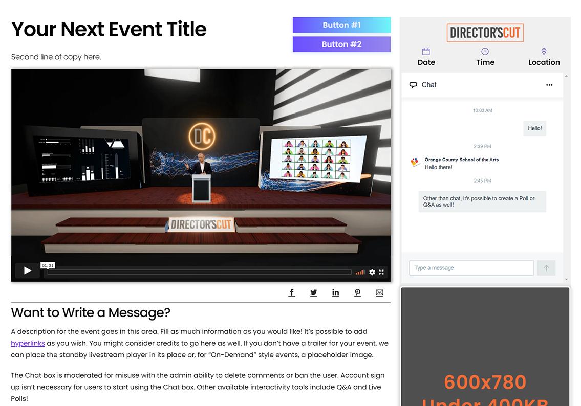 Custom Virtual Event Hosting Platform